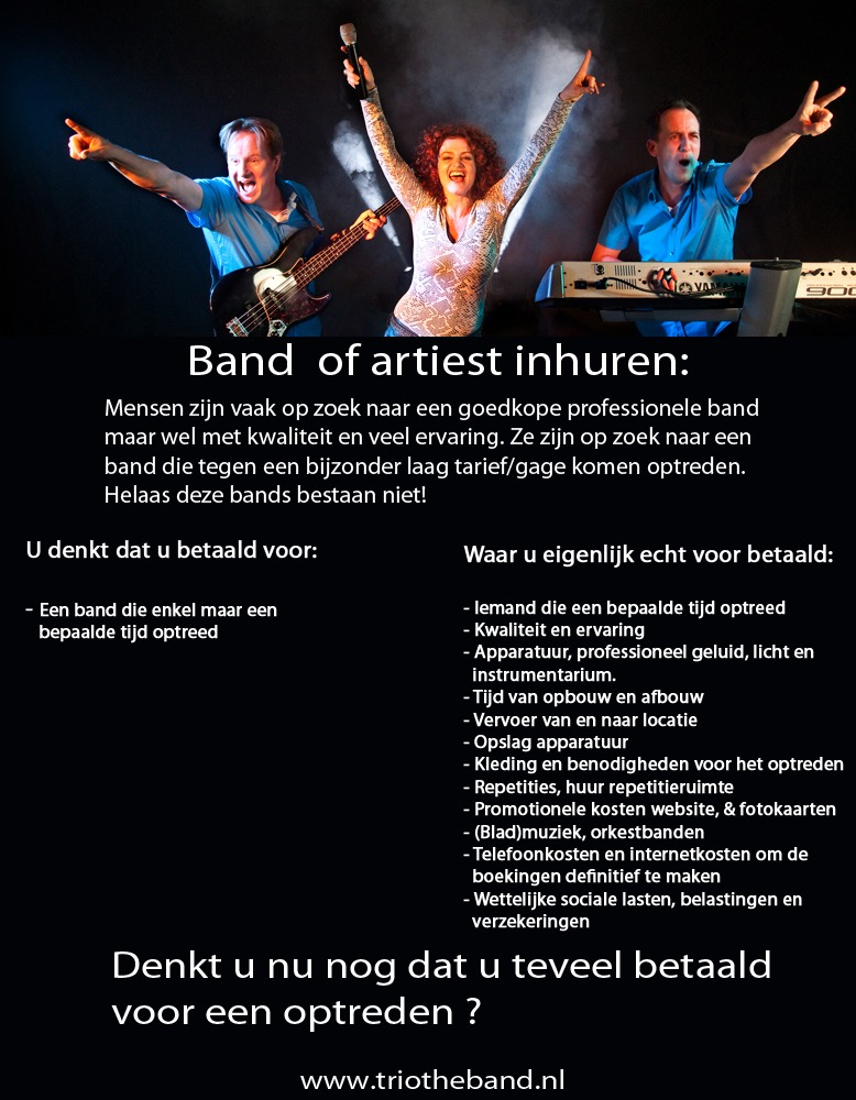 The Band boeken, the band bruiloft, wat kost een coverband?